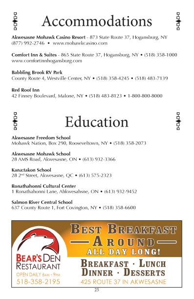 Akwesasne 2016 Business Directory pg 25