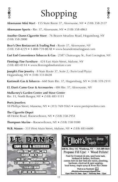Akwesasne Mohawk Directory 2017 pg 11