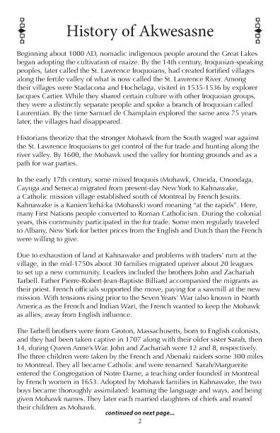 Akwesasne Mohawk Directory 2017 pg 2