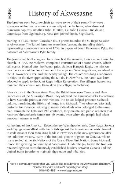Akwesasne Mohawk Directory 2017 pg 3