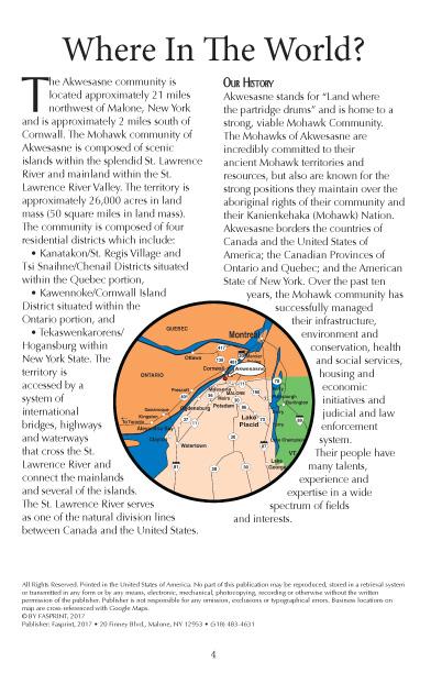 Akwesasne Mohawk Directory 2017 pg 4