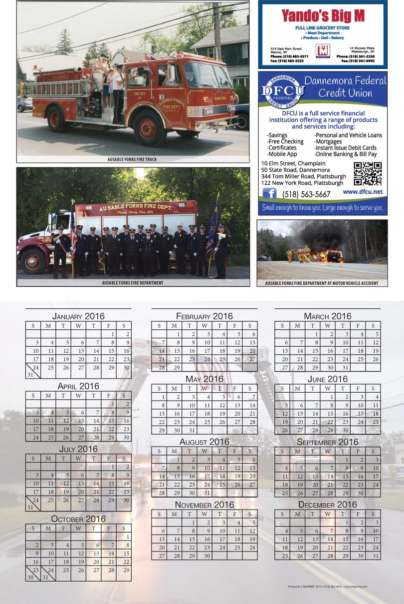 Clinton County 2016 Calendar
