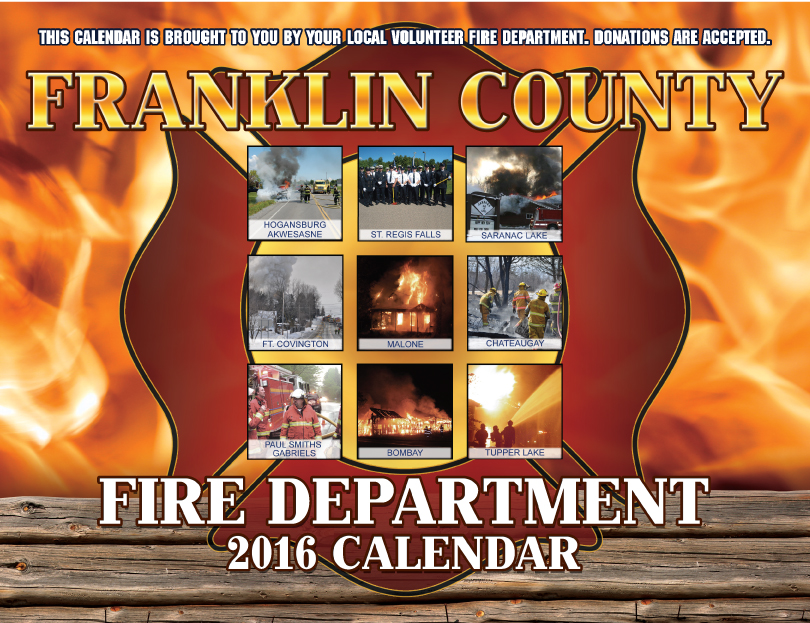Franklin County Fire Calendar 2016 Cover