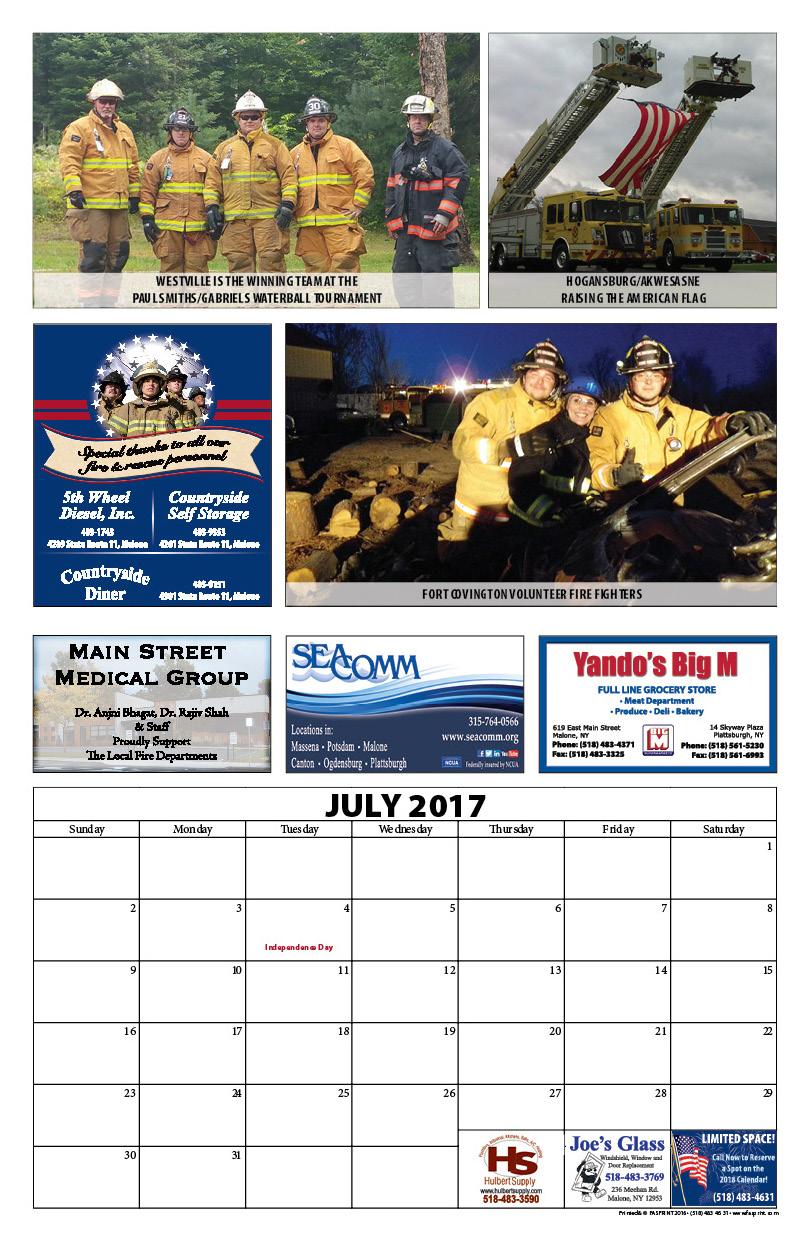 Franklin County Fire Calendar 201710