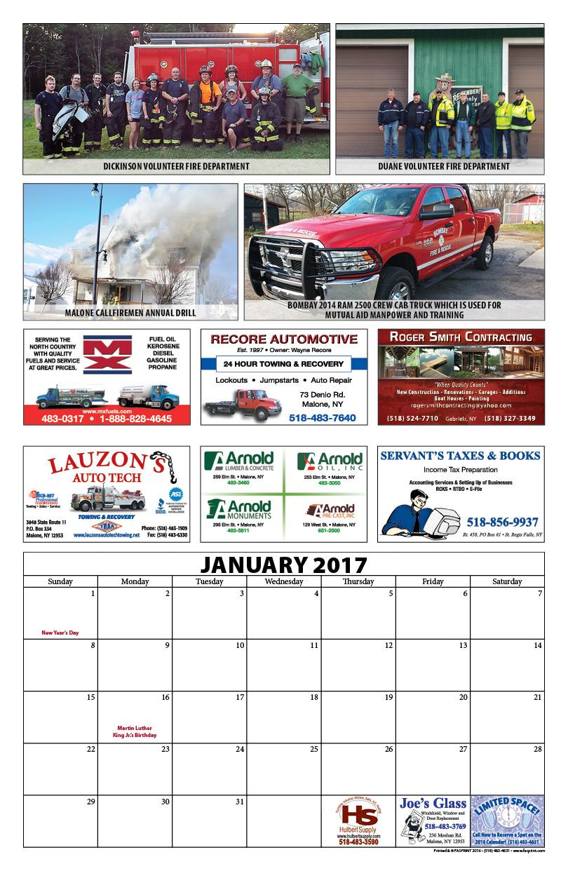 Franklin County Fire Calendar 20173