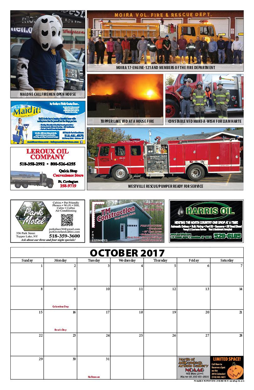 Franklin County Fire Calendar 20174