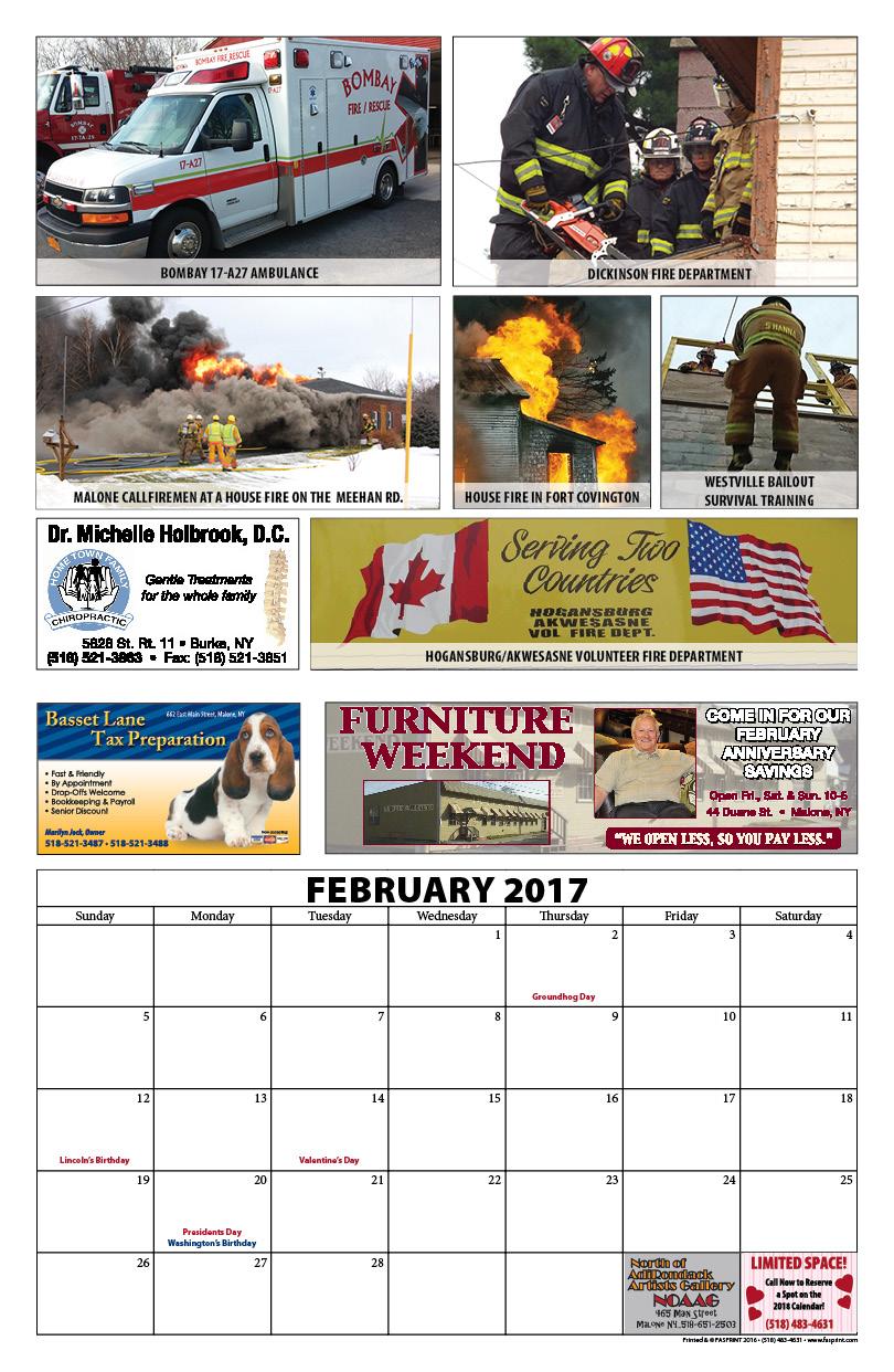 Franklin County Fire Calendar 20175