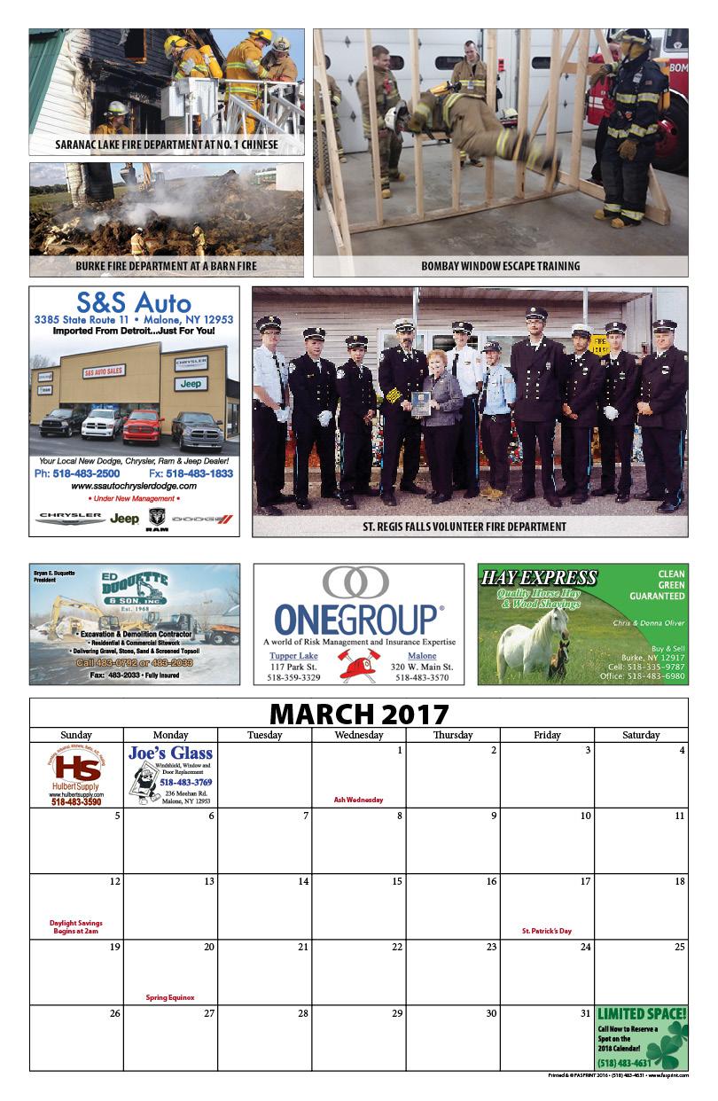 Franklin County Fire Calendar 20177