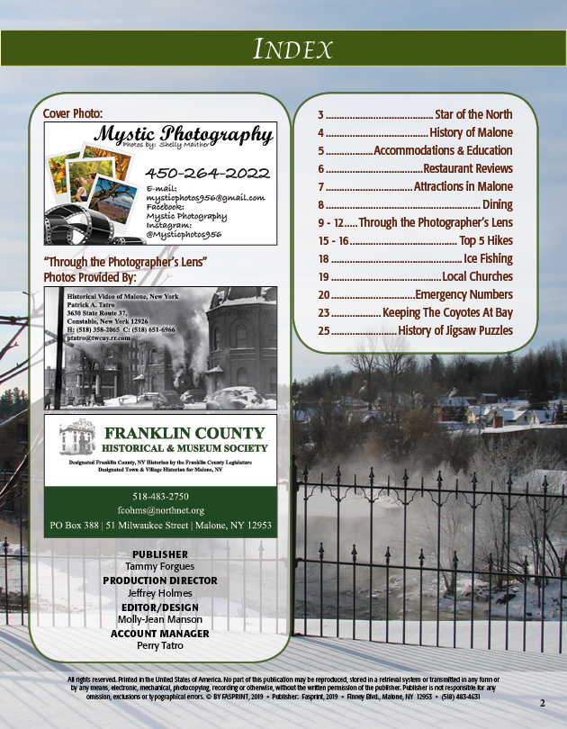 Malone Directory 2019 Vol. 1