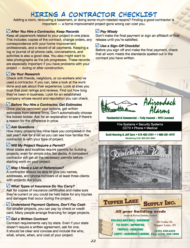 North Country Home Improvement Pg 22
