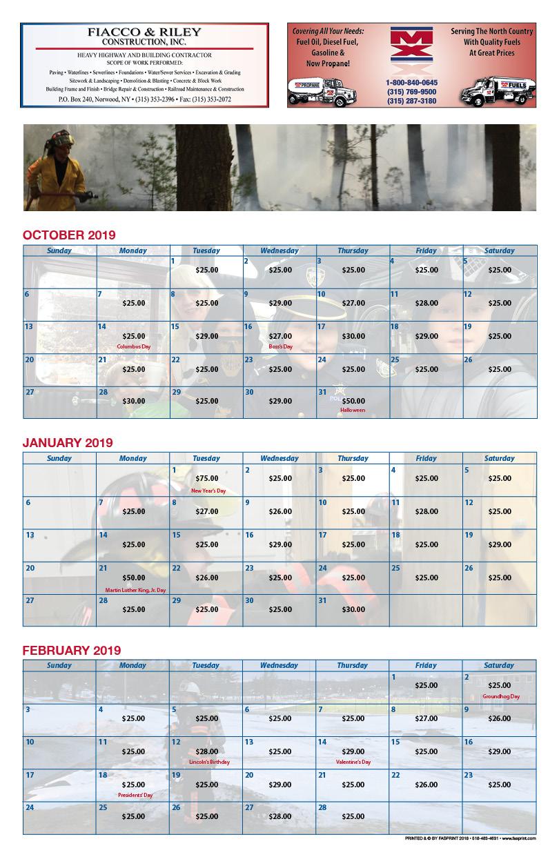 West Stockholm Calendar 20193