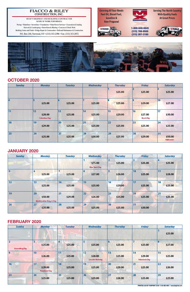 West Stockholm Calendar 20203
